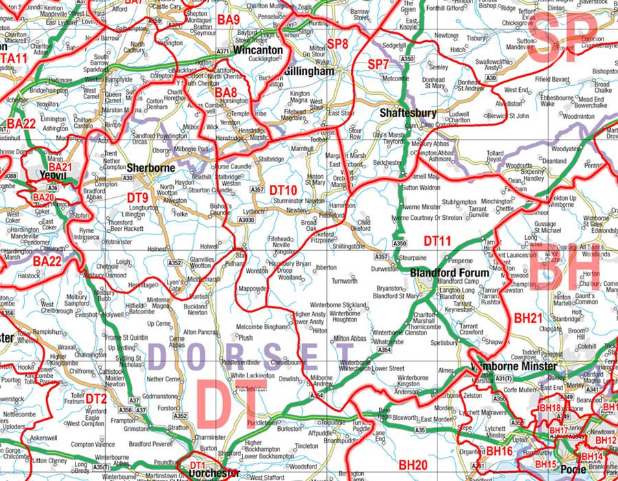 Postcode Sector Map 1 Cornwall and Scilly Isles